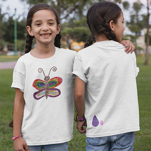 Butterfly t-shirt front and back